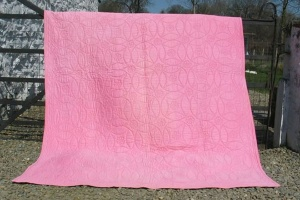 Bright Pink/Pink with Lilac Haze Wholecloth Quilt