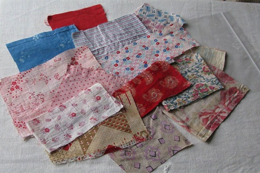 antique fabric pieces
