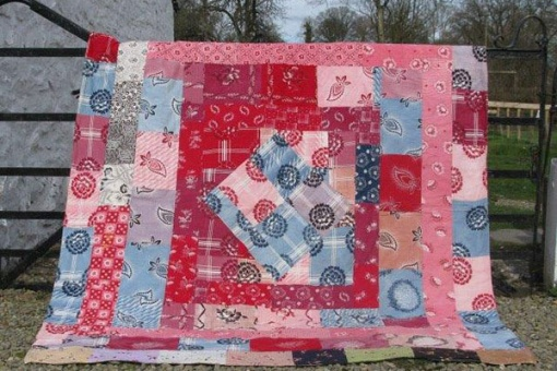 Vibrant Double-sided Patchwork Quilt